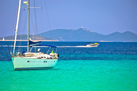 Dugi Otok island Pahthera bay sailing and yachting destinaion, archipelago of Dalmatia, Croatia