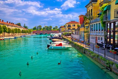 Peschiera del Garda colorful waterfront and Italian architecture view, Lago di Garda, Italy