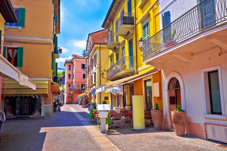 Peschiera del Garda colorful Italian architecture view, Lago di Garda, Italy