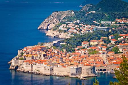 Town of Dubrovnik site view, Dalmatia region of Croatia