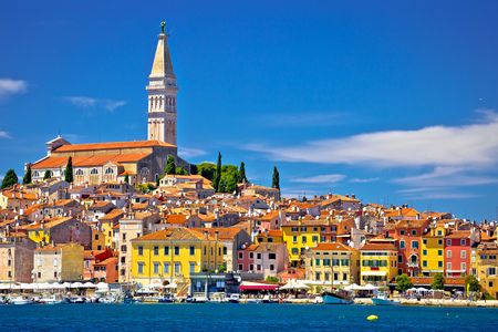 Town of Rovinj ancient architecture and waterfront view, Istria, region of Croatia