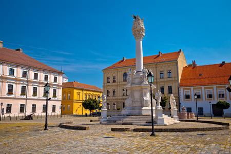 Holy trinity square in Tvrdja historic town of Osijek, Slavonija region of Croatia Stock Photo