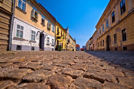 Old paved street in Tvrdja historic town of Osijek, Slavonija region of Croatia Stock Photo