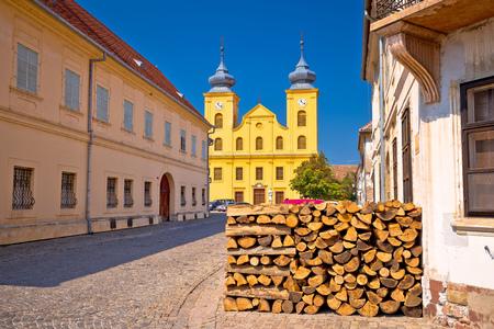 Osijek old town Tvrdja street view, Slavonija region of Croatia Stock Photo