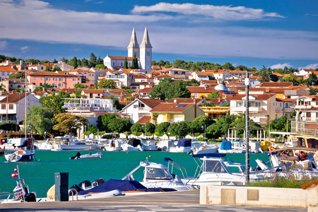 Town of Medulin waterfront view, Istria region of Croatia