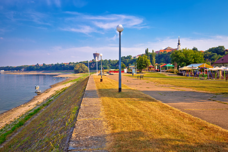 Vukovar city and Danube river coast view, Slavonija region of Croatia