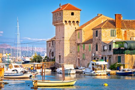 Kastel Gomilica old town on the sea near Split, Dalmatia region of Croatia Standard-Bild