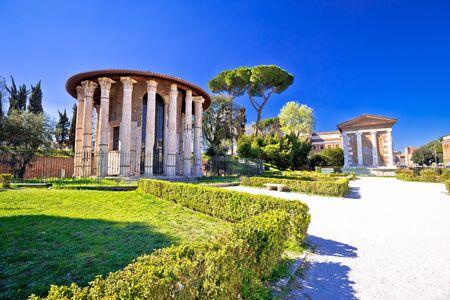 Foro Boario e tempio di Portuno antichi punti di riferimento della città eterna di Roma, patrimonio romano nella capitale d'Italia