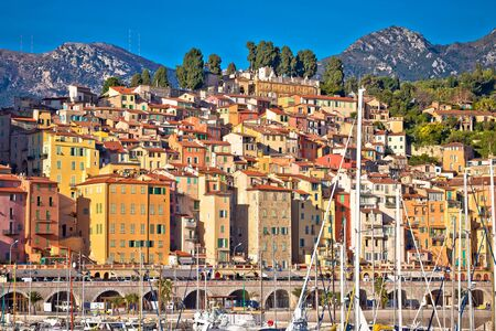 Colorful Cote d Azur town of Menton harbor and architecture view, Alpes-Maritimes department in southern France Reklamní fotografie