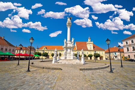 Holy trinity square in Tvrdja historic town of Osijek, Slavonija region of Croatia Stock Photo