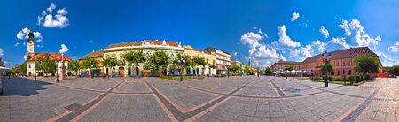 Town of Sombor square and architecture panoramic view, Vojvodina region of Serbia Reklamní fotografie