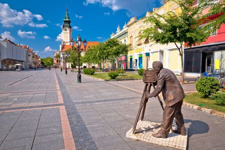 Town of Sombor square and architecture view, Vojvodina region of Serbia Reklamní fotografie