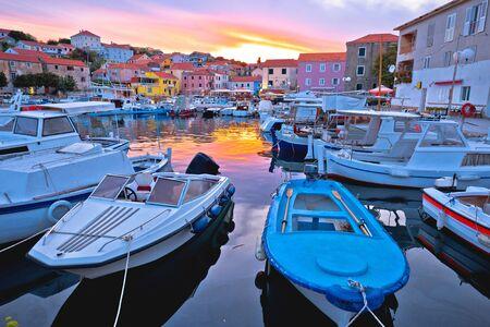 Fishermen village of Sali on Dugi Otok island evening view, Dalmatia archipelago of Croatia