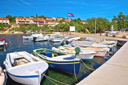 Luka on Dugi Otok island harbor and waterfront view, Dalmatia region of Croatia