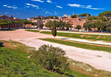 The Circus Maximus and ancient Rome landmarks view, Eternal city, Italy