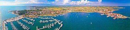 Adriatic coastline of Umag architecture aerial view, archipelago of Istria region, Croatia Reklamní fotografie