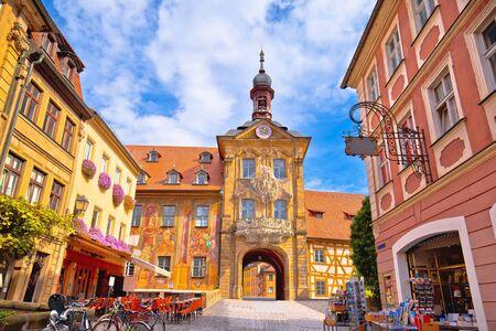 Bamberg. Altstadt von Bamberg historische Straße und Architekturansicht, Oberfranken, Bayern, Deutschland Standard-Bild
