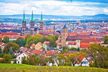 Bamberg. Panoramic view of Bamberg landscape and architecture, Upper Franconia, Bavaria region of Germany