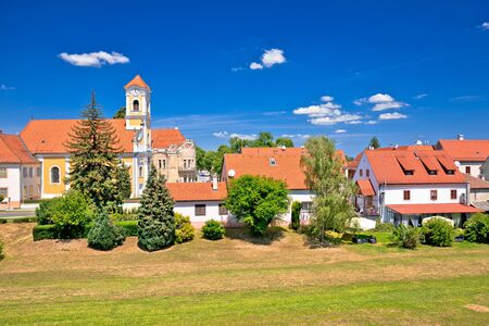 Old baroque town of Varazdin park and landmarks view, town in northern Croatia