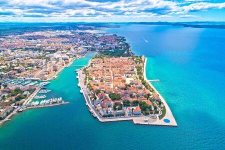 City of Zadar aerial panoramic view, tourist destination in Dalmatia region of Croatia