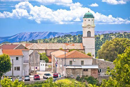 Historic town of Bribir in Vinodol valley view, Kvarner region of Croatia Standard-Bild