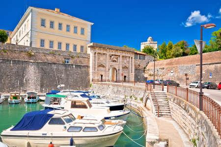 Zadar. King Kresimir coast in city of Zadar waterfront view. Dalmatia region of Croatia