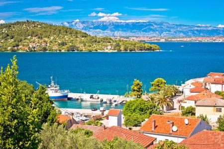 Zadar archipelago. Kali village on Ugljan island seafront view, Dalmatia region of  Croatia Editorial