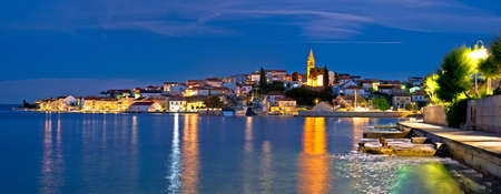 Zadar archipelago. Town of Kali on Ugljan island evening panoramic view, Dalmatia region of Croatia