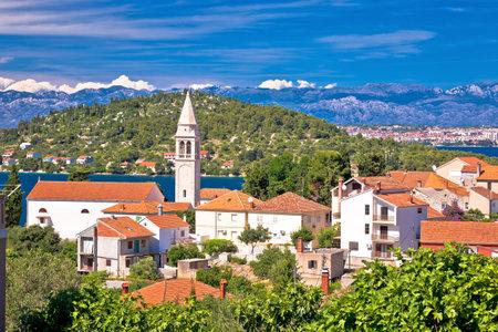 Zadar archipelago. Kali village on Ugljan island old architecture view, Dalmatia region of  Croatia Editorial