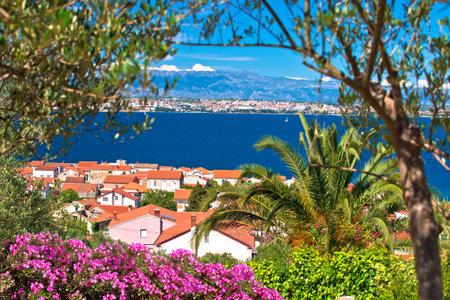 Zadar archipelago. Island of Ugljan and Adriatic sea colorful nature view, Dalmatia region of Croatia