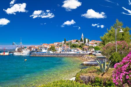 Zadar archipelago. Kali village on Ugljan island turquoise waterfront view, Dalmatia region of  Croatia