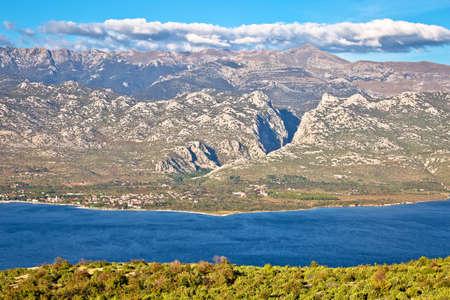 Panoramic view of Velebit mountain and Paklenica national park, northern Dalmatia archipelago of Croatia