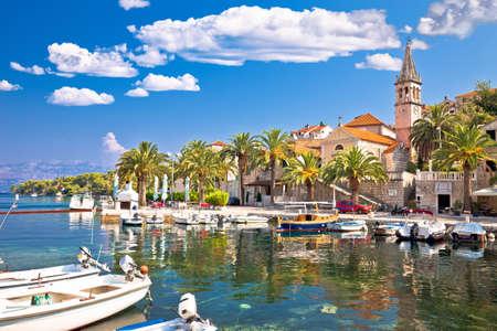 Village of Splitska on Brac island seafront and landmarks view, Dalmatia archipelago of Croatia