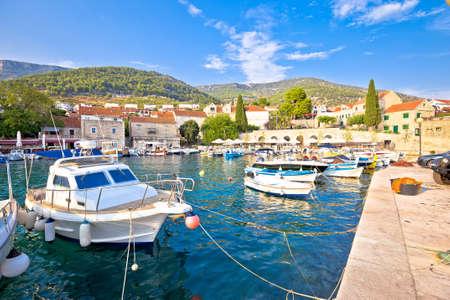 Town of Bol on Brac island waterfront view, Dalmatia archipelago of Croatia