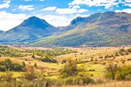Lika. Scenic landscape of rural region of Lika, Bjelopolje in central Croatia