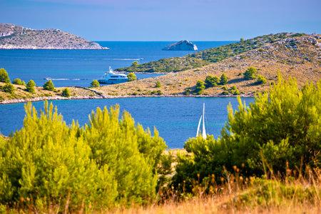 Amazing Kornati Islands national park archipelago landscape view, landscape of Dalmatia, Croatia Фото со стока