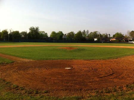 baseball diamond: Home field last season