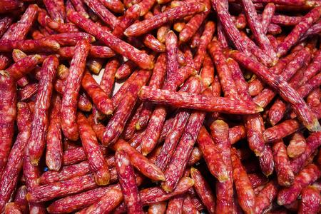 gules: Close up to chinese sausage