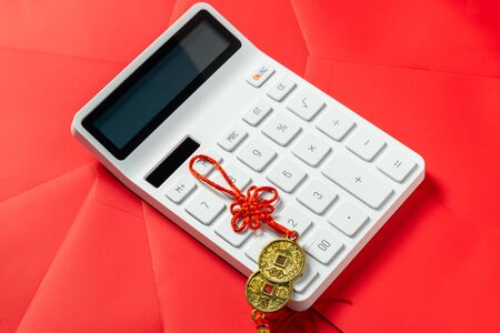 Calculator with chinese red envelope
