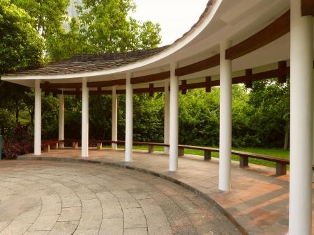 wayside: wayside pavilion in zhujiang park guangzhou china Stock Photo