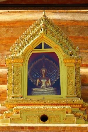 esteemed: Bronze Buddha statue. Stock Photo