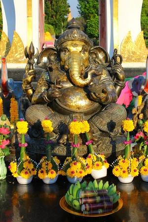 ism: Ganesh statues.