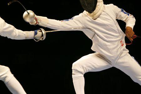 combat sport: Fencing Stock Photo