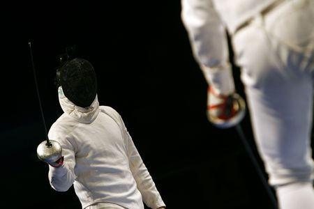 duel: Fencing Stock Photo