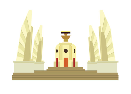 Thai Democracy Monument Illustration