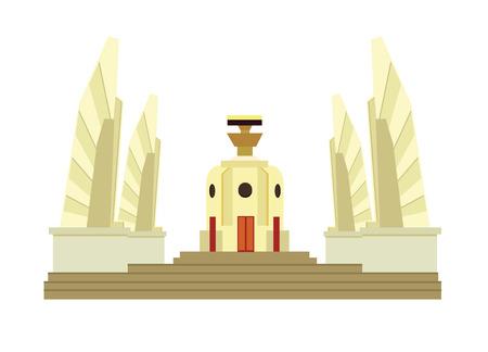democracia: Tailand�s Monumento a la Democracia Vectores