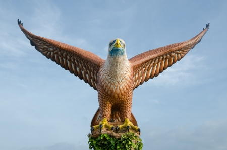 Eagle statue, the symbol of Langkawi island, Malaysia photo