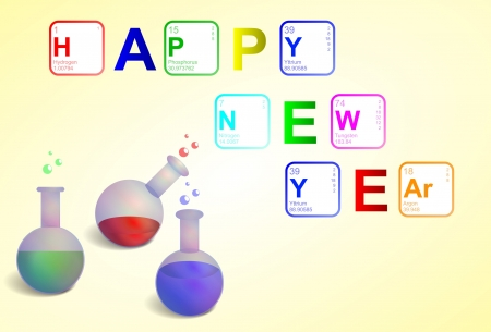 Happy New Year in Sciene style Stock Vector - 16790667