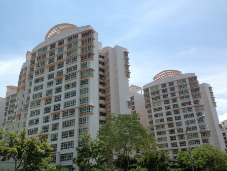 hdb: Singapore houses on a sunny day