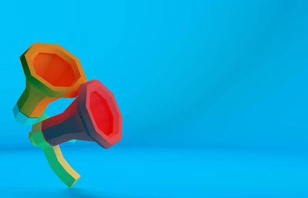 Speaker paper craft minimalist flat